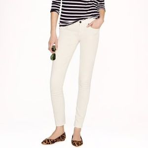 J. Crew Ecru Toothpick Jeans